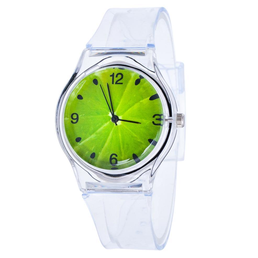 Dětské Barevné hodinky - 2 barvy Barva: Zelený