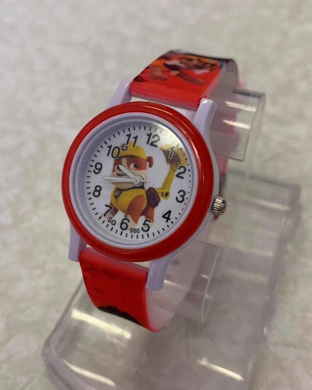 Dětské červené hodinky Tlapková patrola