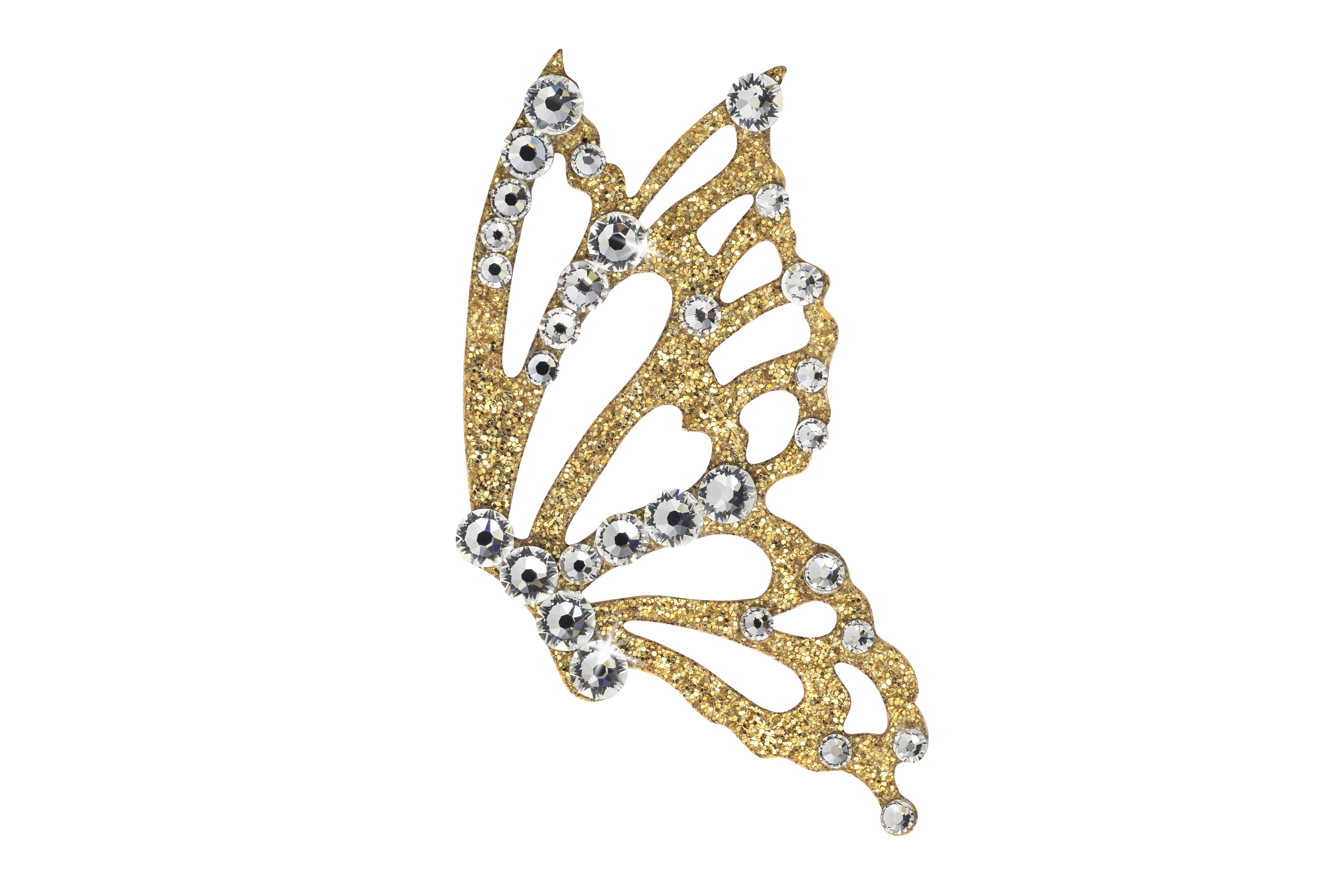 Načančaná.cz Dámské šperky na tělo zlatý Motýl - 3 barvy Barva: Crystal