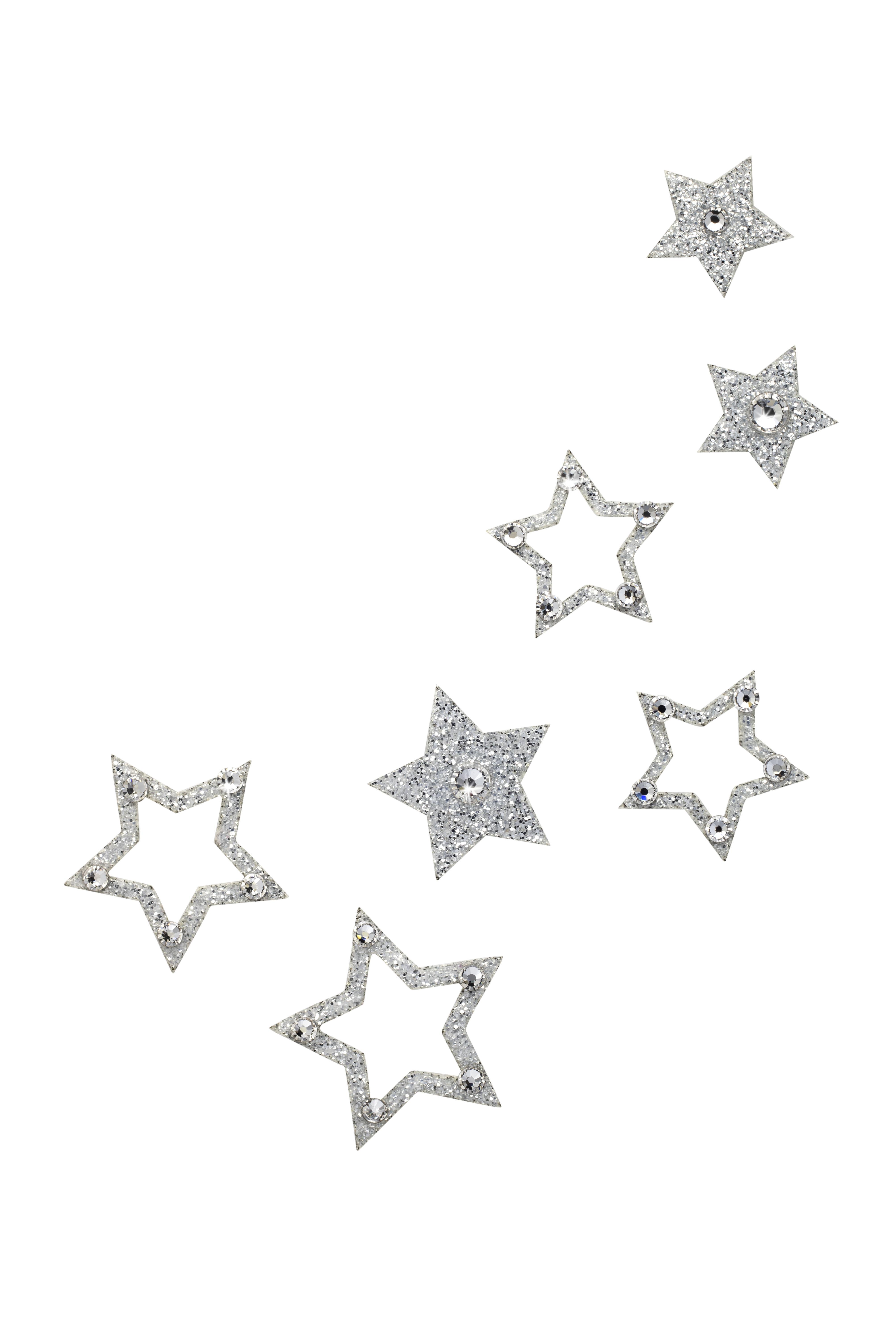 Načančaná.cz Dámské šperky na tělo stříbrné Hvězdičky - 6 barev Barva: Crystal