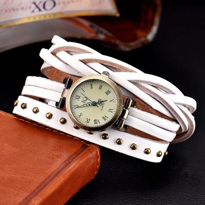 1e371ac6c Dámské retro kožené hodinky - 4 barvy Barva: Bílá