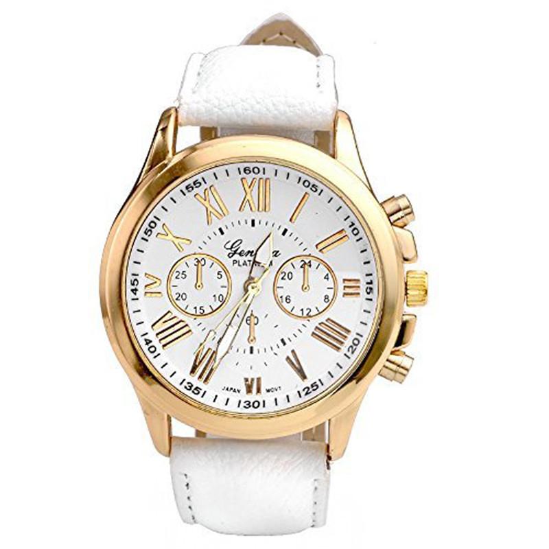 251318bda Unisex kožené hodinky Geneva Atraktivnost - 5 barev Barva: Bílá
