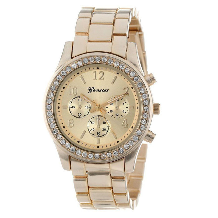 Dámské Geneva hodinky Kovostyl - 3 barvy Barva  Zlatá 43c19996f7