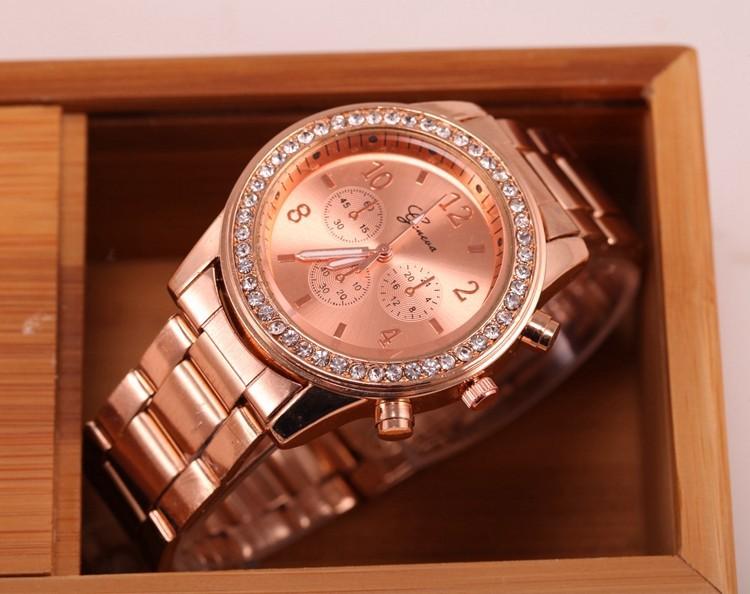 47e1536af Dámské Geneva hodinky Kovostyl - 3 barvy Barva: Růžová zlatá