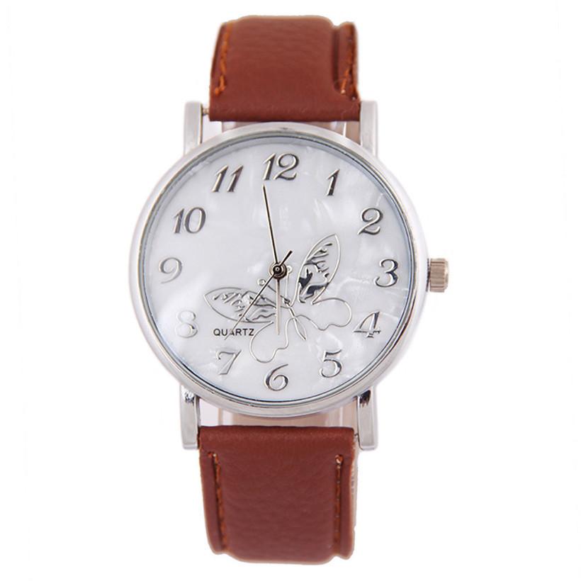 0aad7eae025 Dámské kožené hodinky Motýlek - 3 barvy Barva  Hnědá