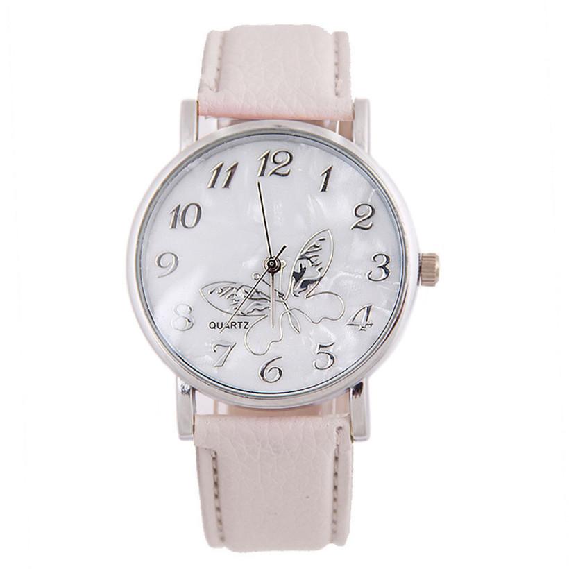 4e8d47776 Dámské kožené hodinky Motýlek - 3 barvy Barva: Bílá