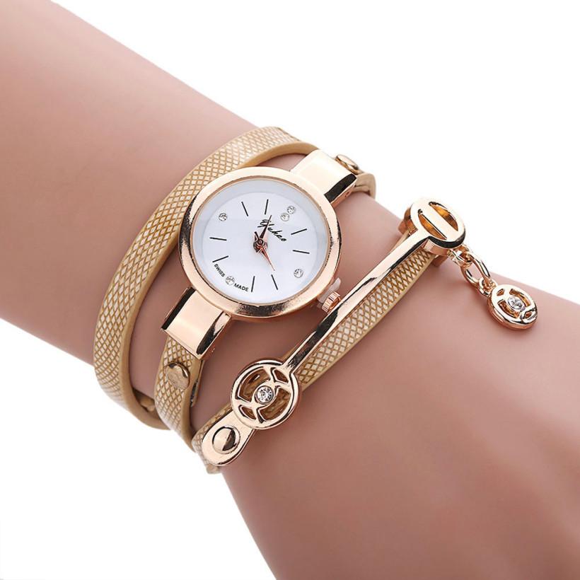 94e1cffc7 Dámské kožené hodinky Kreativita - 5 barev Barva: Bílo-béžové