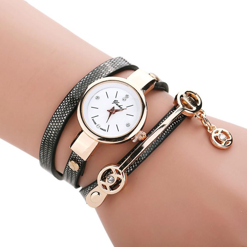 Dámské kožené hodinky Kreativita - 5 barev Barva  Černo-šedé 1b6012eec6