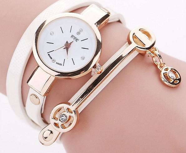 9d3949981 Dámské kožené hodinky Kreativita - 5 barev Barva: Bílá