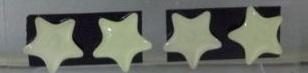 Náušnice FOSFOROVÉ HVĚZDY - 5 BAREV Barva: Bílý
