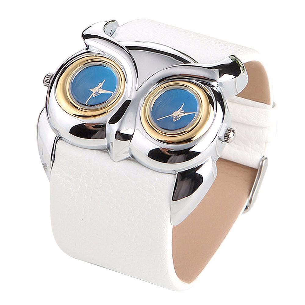 926de0d1c Dámské kožené hodinky Sova - 4 BARVY Barva: Bílá