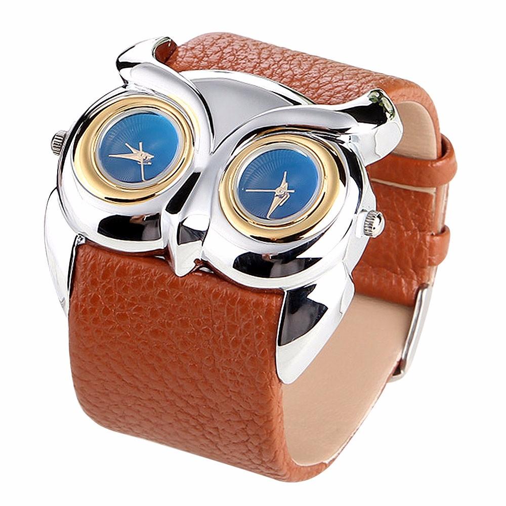 Dámské kožené hodinky Sova - 4 barvy Barva  Hnědá 12560f37b1