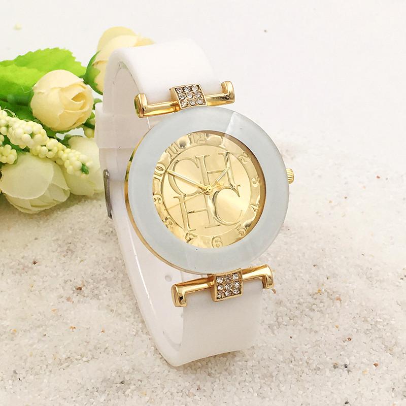 5d548639f53 Dámské elegantní hodinky s krystaly - 3 BARVY Barva  Bílá