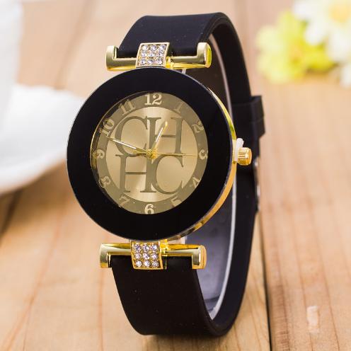 Dámské elegantní hodinky s krystaly - 3 BARVY Barva  Černá 40f4e41150