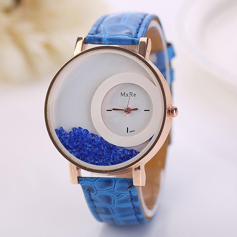 Dámské přesýpací modní hodinky- 4 barvy Barva  Modrá c52c7f69dd