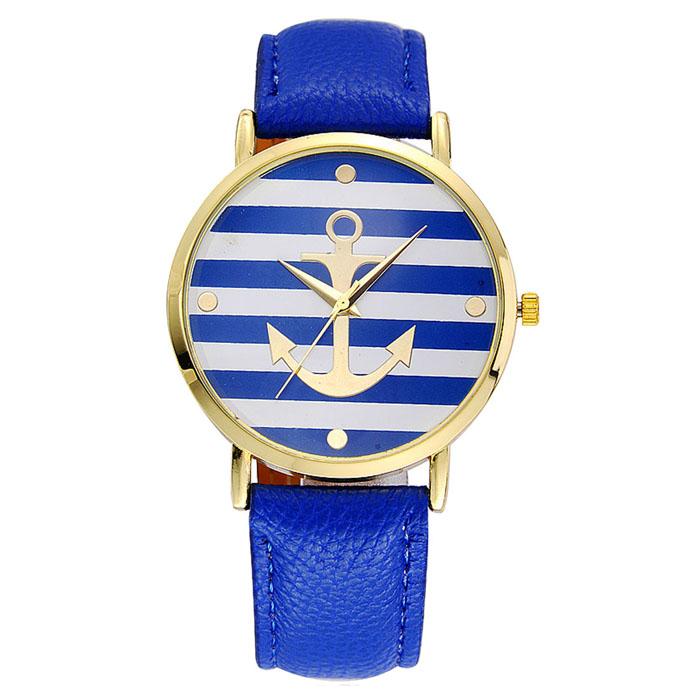 Kožené unisex volnočasové hodinky Námořník - 4 barvy Barva  Modré 94eeb0aa25