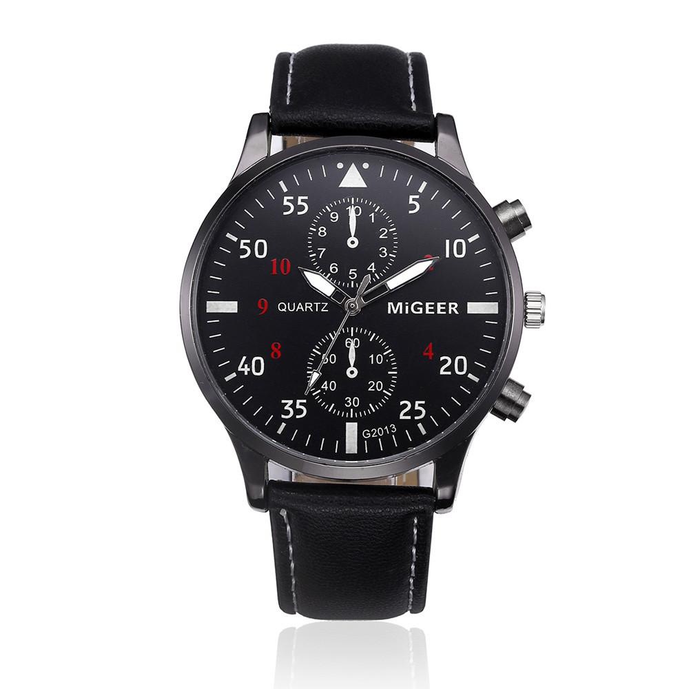 a25589182 Elegantní kožené hodinky pánské - 2 barvy Barva: Černý