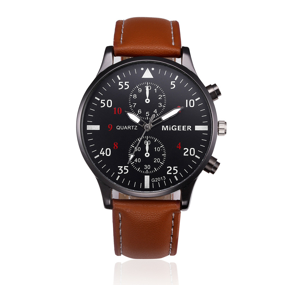 7bfae5763a0 Elegantní kožené hodinky pánské - 2 barvy Barva  Hnědý