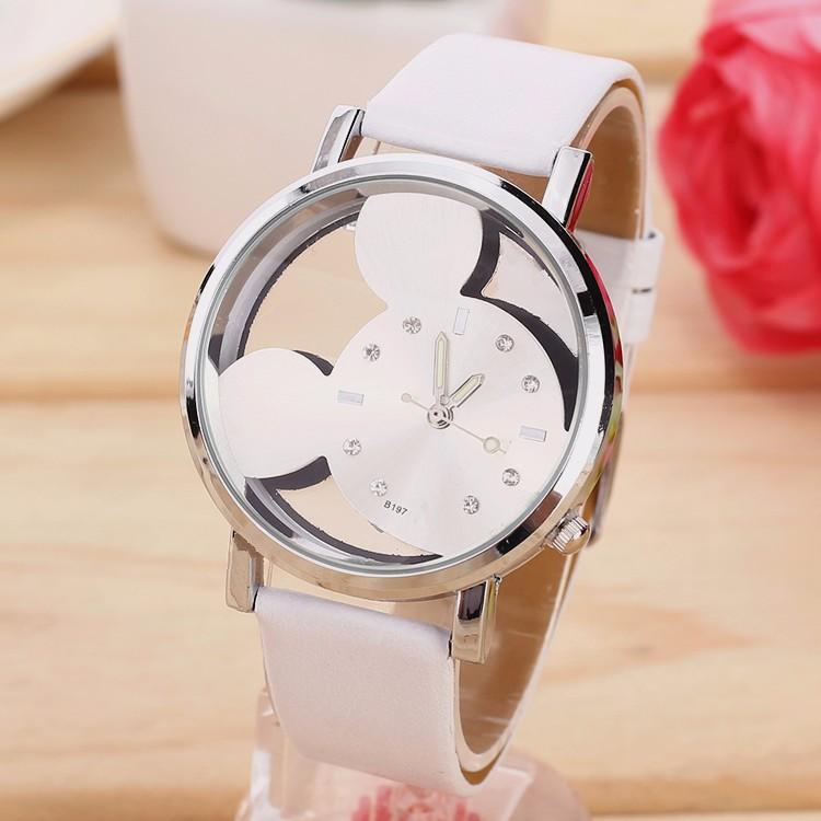 Dětské hodinky Mickey mouse - 2 barvy Barva  Bílé 37e90c592e