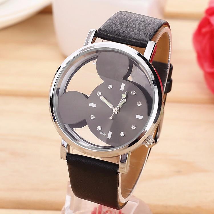 Dětské hodinky Mickey mouse - 2 barvy Barva  Černé c2155e1598