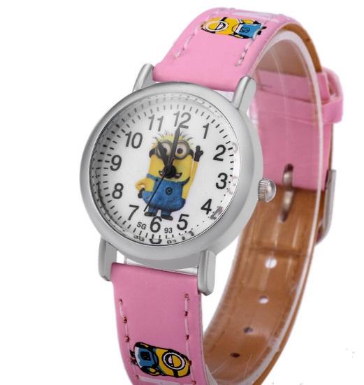 Dětské hodinky Mimoni - 3 barvy Barva: Růžový