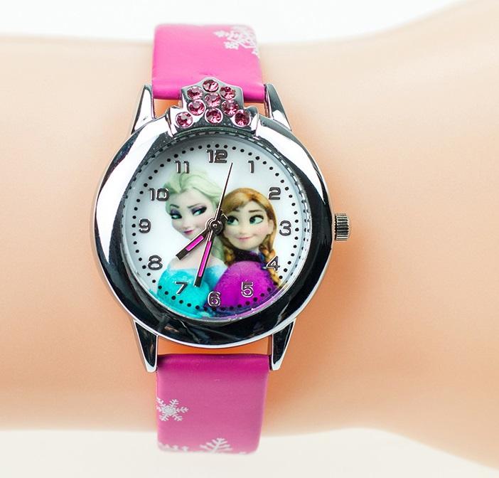 Dětské hodinky Anna a Elsa Frozen - 2 barvy Barva: Růžové kamínky
