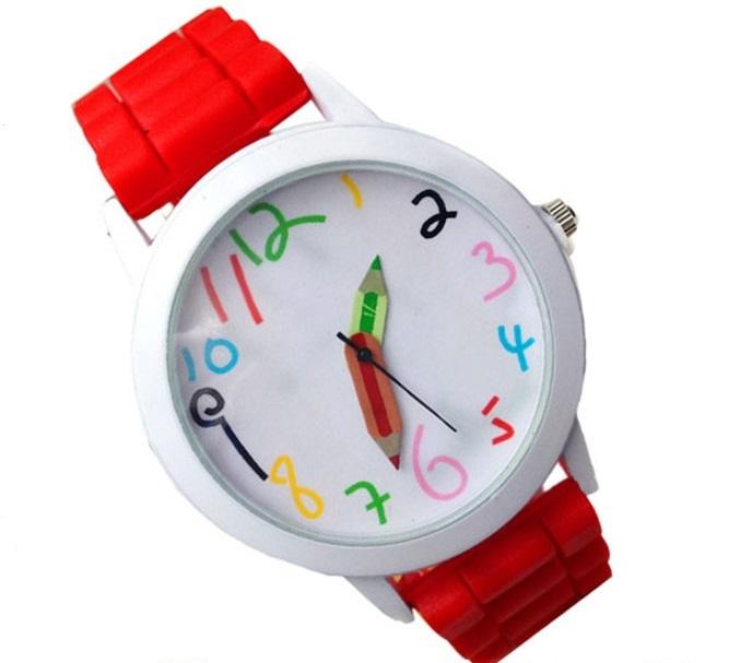 Dětské hodinky Pastelky - 6 barev Barva: Červené