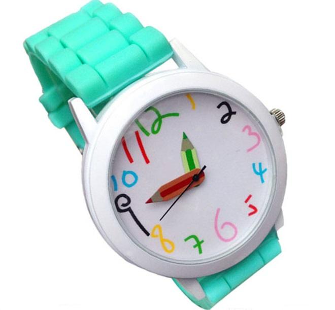 Dětské hodinky Pastelky - 6 barev Barva: Tyrkysové