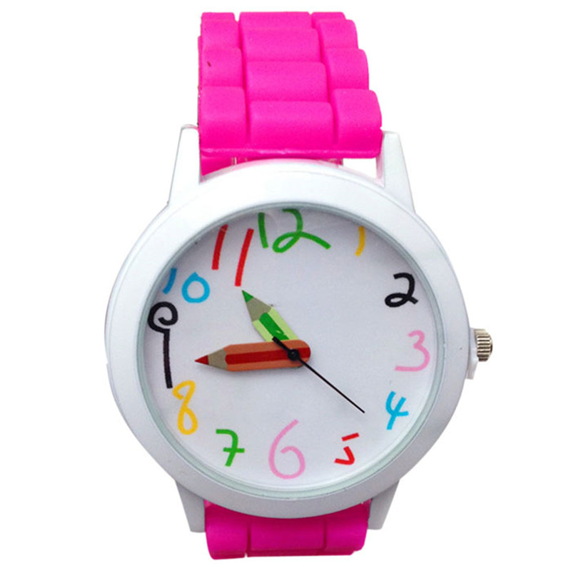 Dětské hodinky Pastelky - 6 barev Barva: Růžové