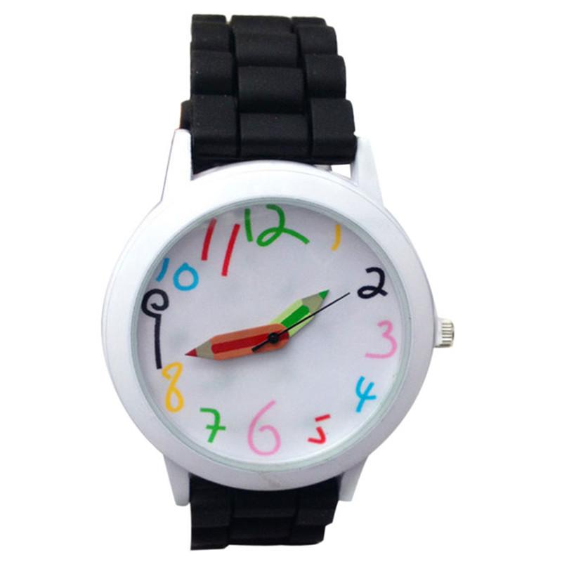 Dětské hodinky Pastelky - 6 barev Barva: Černé