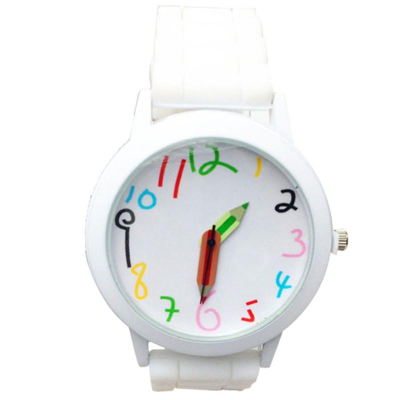 Dětské hodinky Pastelky - 6 barev Barva: Bílé