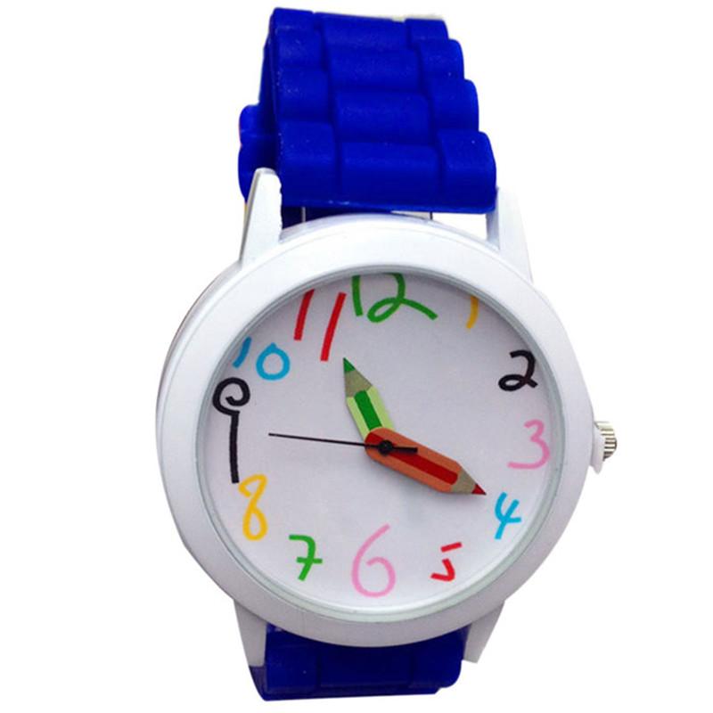 Dětské hodinky Pastelky - 6 barev Barva: Modré