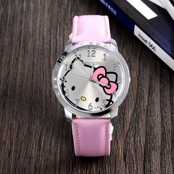 Dětské růžové hodinky Hello Kitty
