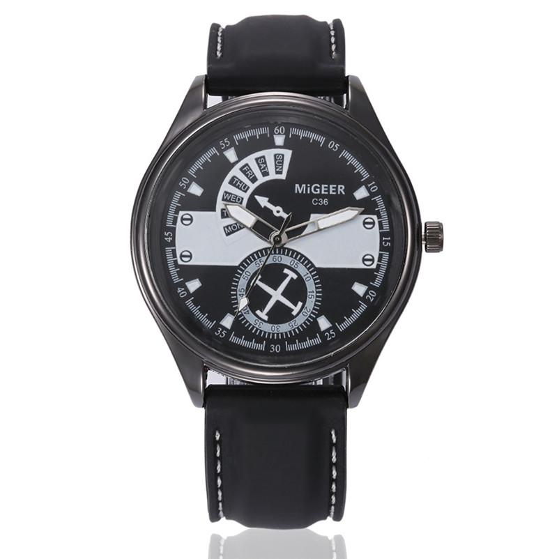 31b84fbd6 Pánské Prošívané hodinky - 3 barvy Barva: Bílý