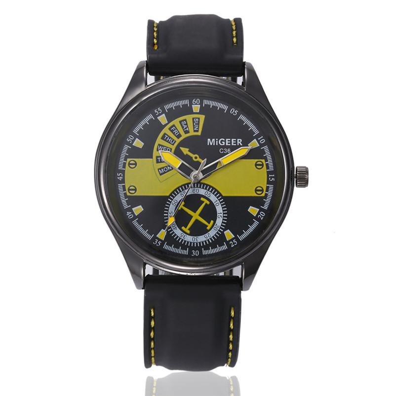 133dbb43770 Pánské Prošívané hodinky - 3 barvy Barva  Žlutý