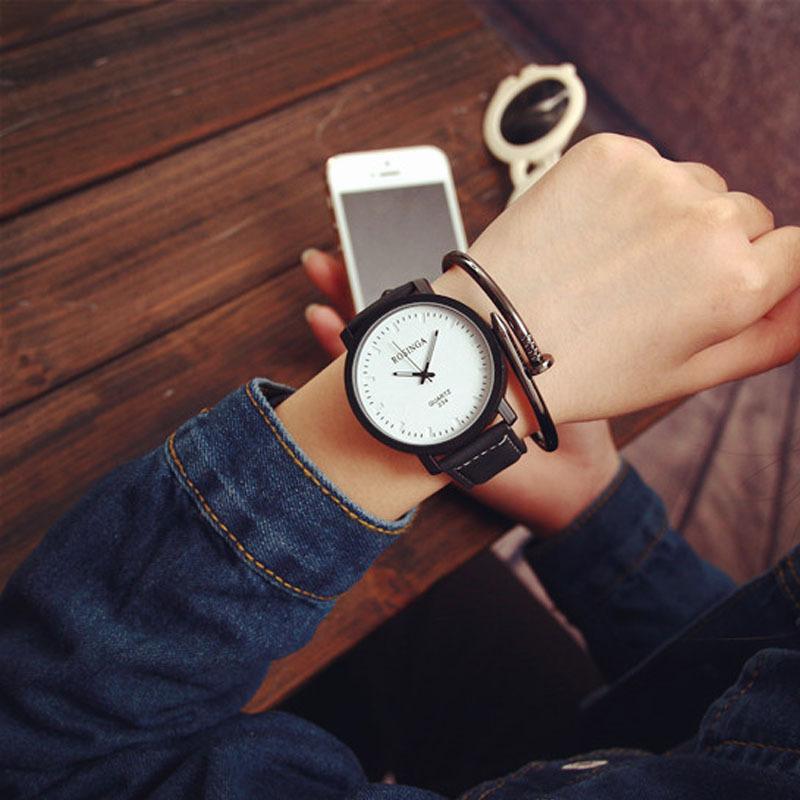Semišové hodinky unisex - 2 barvy Barva  černo - bílé ffa614530a