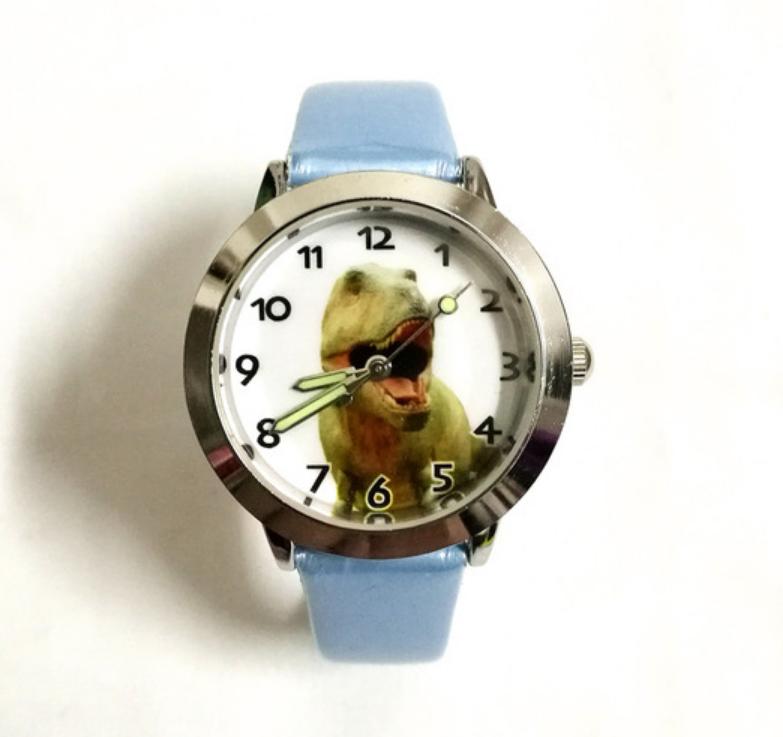 Dětské hodinky Dinosaur - 2 barvy Barva: Modrý