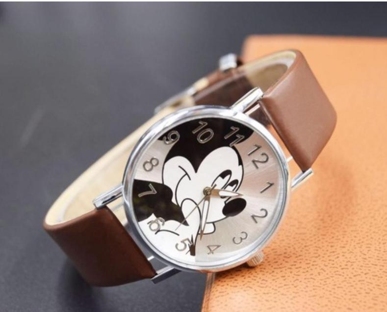 Dětské hodinky Mickey - 3 barvy Barva  Hnědé a4fb9aea61
