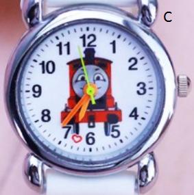 Dětské modré hodinky Mašinka Tomáš Motiv: Červená mašinka