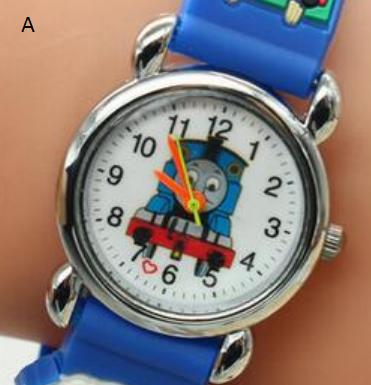 Dětské modré hodinky Mašinka Tomáš Motiv: Modrá mašinka