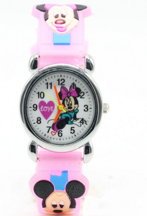 481df6a4584 Dětské růžové hodinky Minnie
