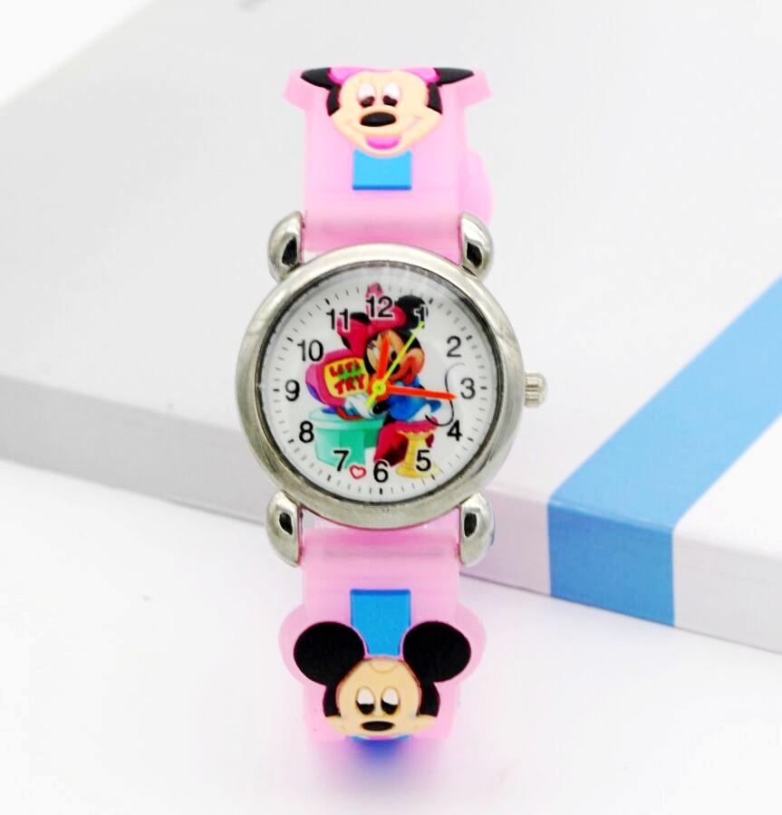 Dětské růžové hodinky Veselá Minnie d6d1b050665