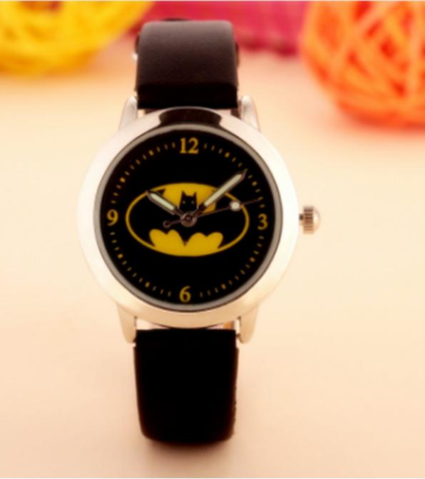 Dětské černé hodinky Znak Batman