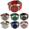 Kožené prošívané hodinky Geneva