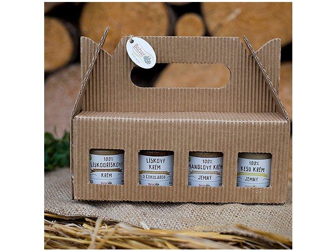 Dárkové balení MIX ořechových krémů 8x 60 g