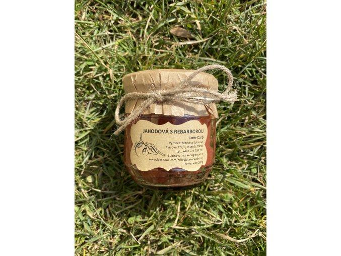 Low Carb marmeláda JAHODA s rebarborou