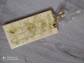 LC čokoláda bílá s pistáciemi