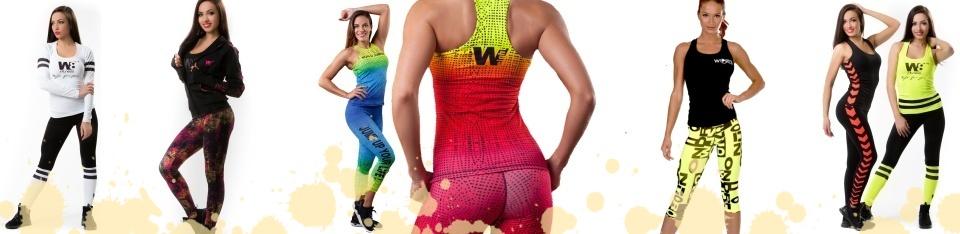 Sportovní oblečení dámské z kolekcí World Jumping a W8 nyní naleznete v e-shopu NA CVÍČO.