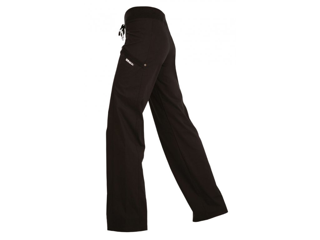 Černé sportovní kalhoty do pasu Litex Microtec 55249 černé - nacvico.cz bf3850a8d2