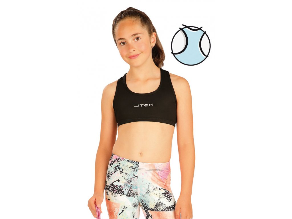 Černý dívčí krátký sportovní top 51450 - nacvico.cz 7702f425a0b